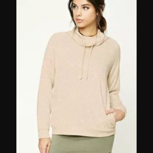 Funnel Neck Marled Top